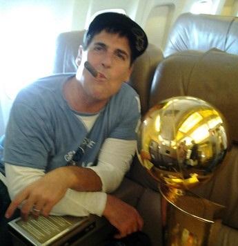 Mark Cuban winning